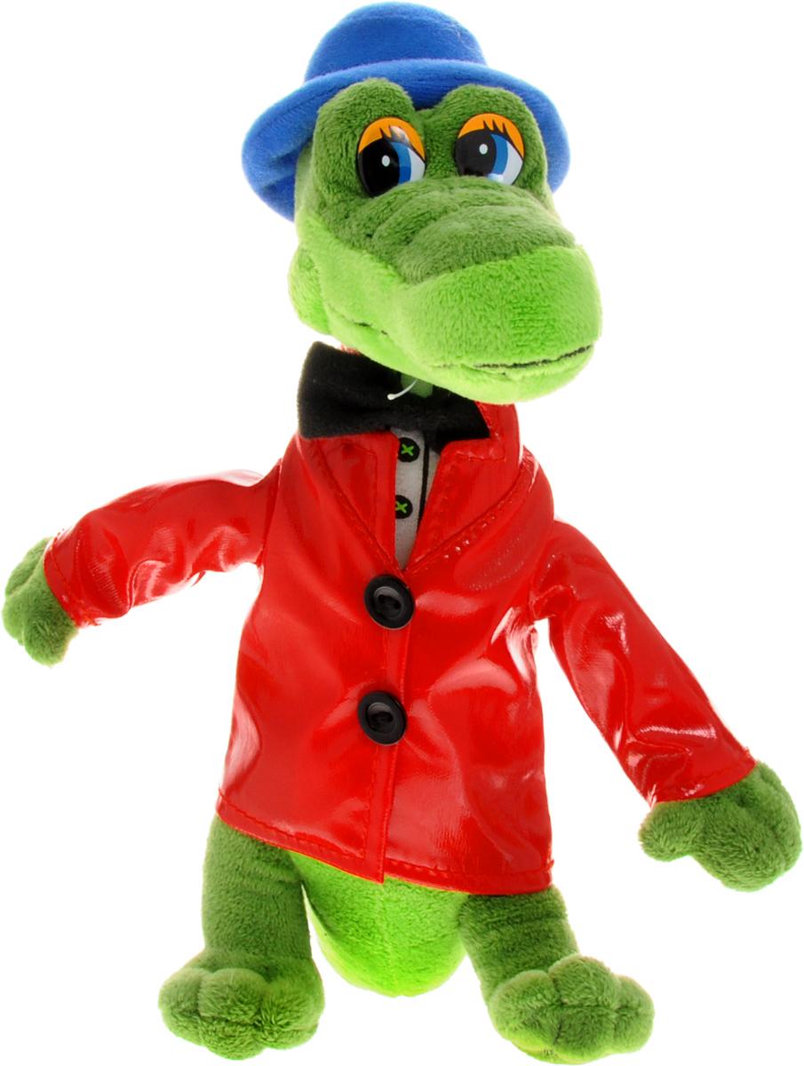 Мульти-Пульти Мягкая озвученная игрушка Крокодил Гена 24 смV40652/21S26Мягкая озвученная игрушка Мульти-Пульти Крокодил Гена вызовет улыбку у каждого, кто ее увидит! Игрушка выполнена в виде симпатичного крокодила из всеми любимого мультфильма Крокодил Гена. На крокодиле красный плащ, черная бабочка и синяя шляпа. Игрушка озвучена: она может спеть несколько песенок из мультфильма - для этого необходимо нажать ей на животик. Игрушку удобно брать с собой на прогулку, можно посадить в коляску или положить в рюкзачок во время путешествия. Игрушка подарит своему обладателю хорошее настроение и позволит насладиться обществом любимого героя. Батарейки незаменяемые. После того, как батарейки сядут, малыш сможет играть с крокодилом Геной как с обычной мягкой игрушкой.