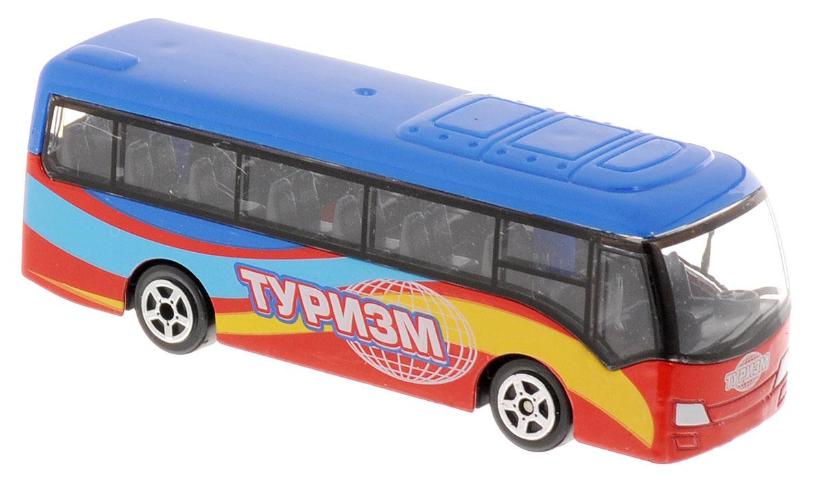 ТехноПарк Автобус Туризм632-12Коллекционная модель автобуса ТехноПарк Туризм окрашена в яркие цвета и имеет характерный дизайн транспорта для путешествий. Большие окна кабины водителя и пассажирского салона позволят туристам лучше разглядеть достопримечательности и архитектурные особенности местности во время путешествия. Корпус модели изготовлен из литого металла с пластиковыми свободно вращающимися колесами. Модель автобуса ТехноПарк станет отличным подарком для любого мальчика.