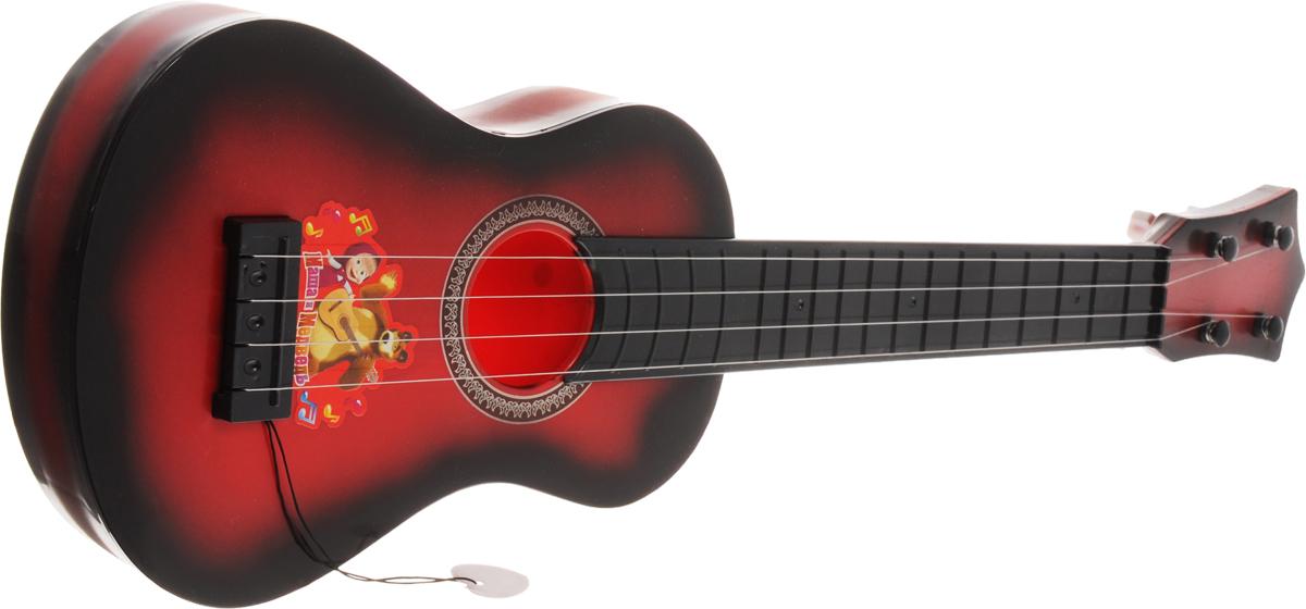Играем вместе Гитара Маша и МедведьB1125995-RГитара Играем вместе Маша и Медведь непременно понравится вашему ребенку и не позволит ему скучать. Ваш ребенок почувствует себя музыкальной звездой, взяв в руки этот оригинальный музыкальный инструмент! Игрушечная классическая гитара выглядит совсем, как настоящая, а по размеру она адаптирована для детей младшего возраста. Она выполнена из прочного пластика с 4 металлическими струнами. Данное изделие сможет стать первым музыкальным инструментом юного композитора или рок-певца. Игрушка снабжена медиатором. Игрушка имеет 5 развивающих функций: моторика, музыкальная память, творческая активность, артистизм, слуховое восприятие. С такой игрушкой ваш ребенок порадует вас замечательным концертом!