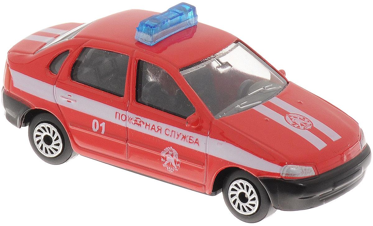 ТехноПарк Модель автомобиля Lada Kalina Пожарная службаCT12-373-K-BLCМодель автомобиля ТехноПарк Lada Kalina. Пожарная служба, выполненная из пластика и металла, станет любимой игрушкой вашего малыша. Машинка представляет собой модель пожарного автомобиля марки Lada. Машинка представлена в формате 1/72. Ваш ребенок будет увлеченно играть с этой моделью, придумывая различные истории. Порадуйте его таким замечательным подарком!