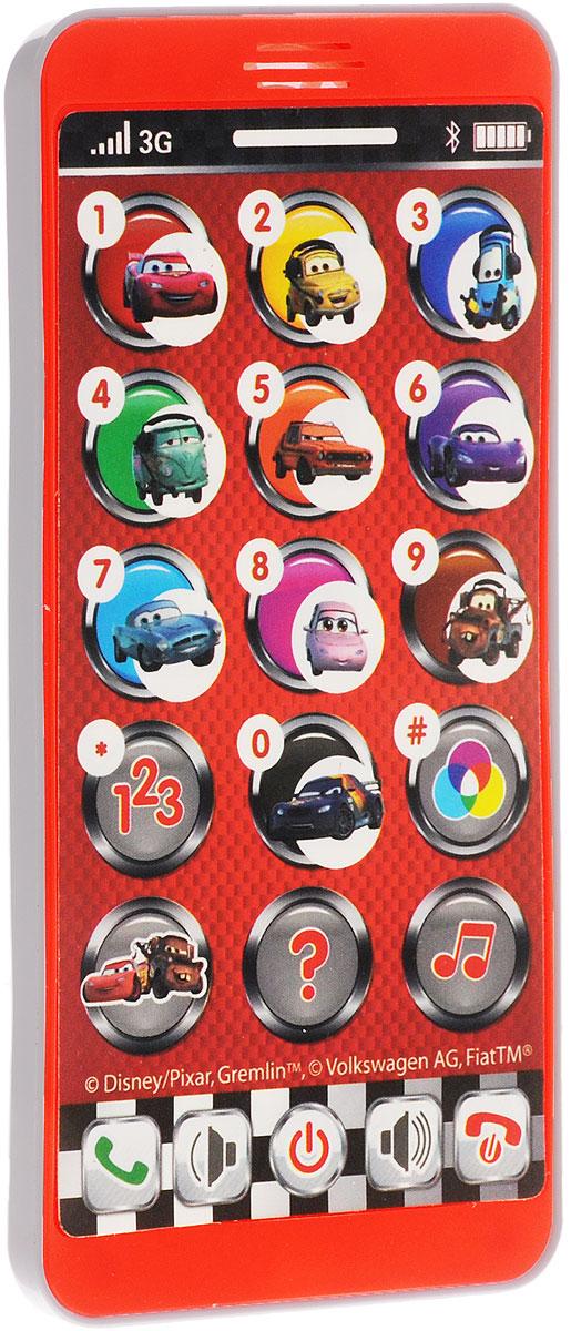 Умка Развивающая игрушка Телефон ТачкиHX2501-CОбучающий телефон Тачки отлично подойдет для роли первого детского телефона. На его дисплее можно увидеть персонажей из любимого детского мультфильма Тачки. Вместе с любимыми героями познавать мир гораздо интереснее. Он поможет детям разобраться со сложной техникой и научит правильно использовать ее. Играя с телефоном и нажимая различные кнопки, ребенок будет изучать цифры, цвета, а также веселые стишки и песенки. Телефон способен воспроизводить 4 песни, имена героев, звуки телефона. Есть кнопка Экзамен, что позволит проверить знания малыша. Сделана игрушка из прочного, высококачественного пластика. Рекомендовано детям от 3-х лет. Для работы игрушки необходимы 3 батарейки типа ААА напряжением 1,5V (товар комплектуется демонстрационными).