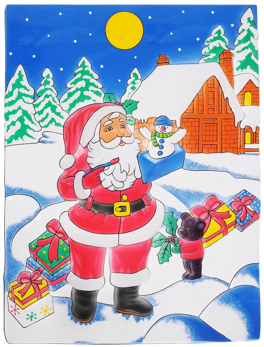 Панно Winter Wings Дом Деда Мороза, 53 х 37 смN09155Панно Winter Wings Дом Деда Мороза предназначено для декорирования помещения. Выполнено в виде Деда Мороза с подарками на фоне дома. С помощью такого украшения вы сможете оживить интерьер по своему вкусу. Новогодние украшения всегда несут в себе волшебство и красоту праздника. Создайте в своем доме атмосферу тепла, веселья и радости, украшая его всей семьей. Размер: 53 х 37 см.