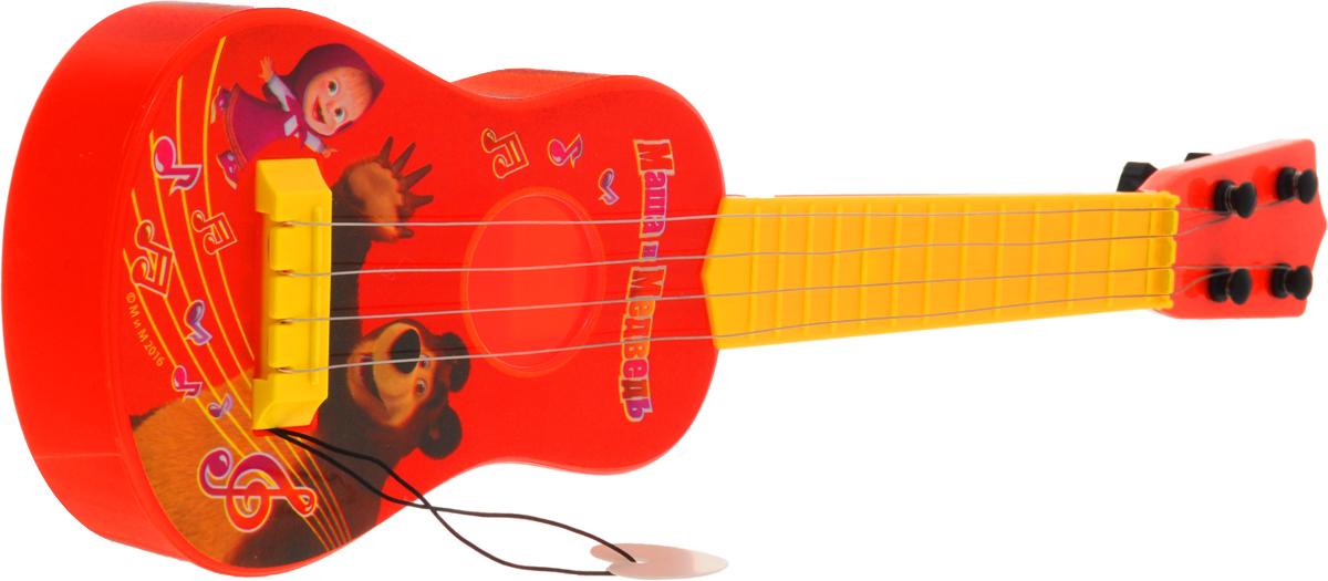 Играем вместе Гитара Маша и Медведь с медиаторомB1406954-RГитара Играем вместе Маша и Медведь понравится вашему ребенку и не позволит ему скучать. Она выполнена из прочного материала с 4 металлическими струнами. Данное изделие сможет стать первым музыкальным инструментом юного композитора или рок-певца. Игрушка снабжена пластиковым медиатором на веревочке. Гитара Играем вместе Маша и Медведь поможет ребенку развить звуковое восприятие, музыкальный слух, мелкую моторику рук и координацию движений. С такой игрушкой ваш ребенок порадует вас замечательным концертом!