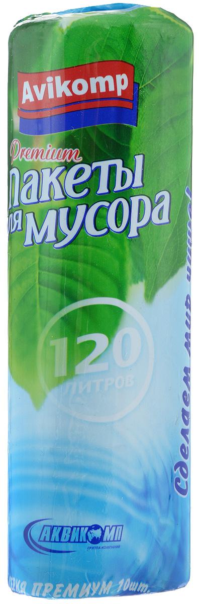 Мешки для мусора Avikomp Premium, 120 л, 10 шт9050_голубойХозяйственные мешки Avikomp Premium предназначены для упаковки пищевых и непищевых отходов. Изготовлены из надежного и прочного полиэтилена низкого давления. Объем мешков: 120 л. Количество мешков: 10 шт.