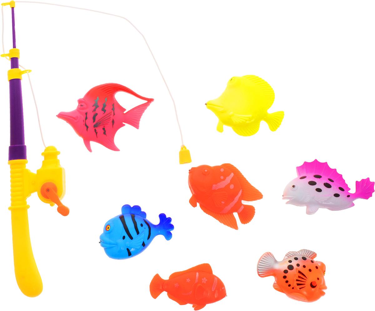 Играем вместе Игрушка для ванной Рыбалка Кот Леопольд цвет удочки фиолетовый желтыйB1273212-R_удочка фиолетовый/желтыйИгрушка для ванной Играем вместе Рыбалка. Кот Леопольд - вот это настоящая забава половить рыбку вместе с любимым героем! Теперь процесс купания станет для ребенка еще интереснее: ведь он с Котиком Леопольдом из полюбившегося всем мультфильма едет на рыбалку. В комплекте вы найдете одну удочку и семь разноцветных рыбок. Игра отлично подходит для развития мелкой моторики.
