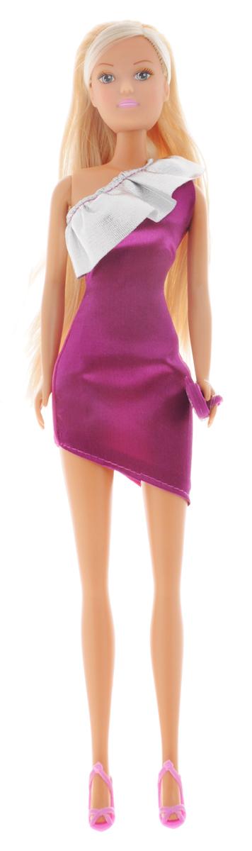 Simba Кукла Штеффи Chic! цвет платья фиолетовый серебристый5736315_фиолетовый/серебристыйКукла Simba Штеффи Chic! - это воплощение грации и женственности. Она одета в модельное платье, которое подчеркивает утонченность ее фигуры, ее стройные ноги и изящную талию. У куклы длинные светлые волосы, которые ваша дочурка сможет причесывать и заплетать ей различные прически. Кукла выполнена из качественных и безопасных материалов. Благодаря играм с куклой, ваша малышка сможет развить фантазию и любознательность, овладеть навыками общения и научиться ответственности. Порадуйте свою принцессу таким прекрасным подарком!