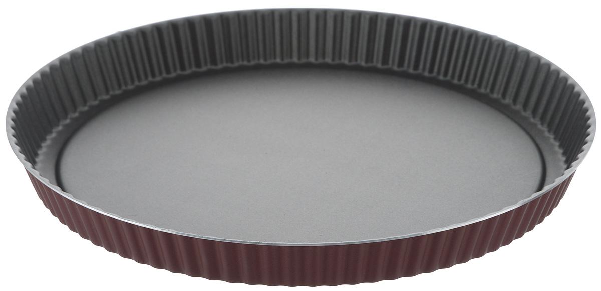Форма для выпечки Scovo Забава, с антипригарным покрытием. Диаметр 28 смRZ-054Форма для выпечки изготовлена из алюминия с внутренним антипригарным покрытием, которое не содержит PFOA, соединений свинца и кадмия. Покрытие исключает прилипание и пригорание пищи к поверхности посуды, обеспечивает легкость мытья. Диаметр изделия: 28 см. Высота стенки: 3 см.