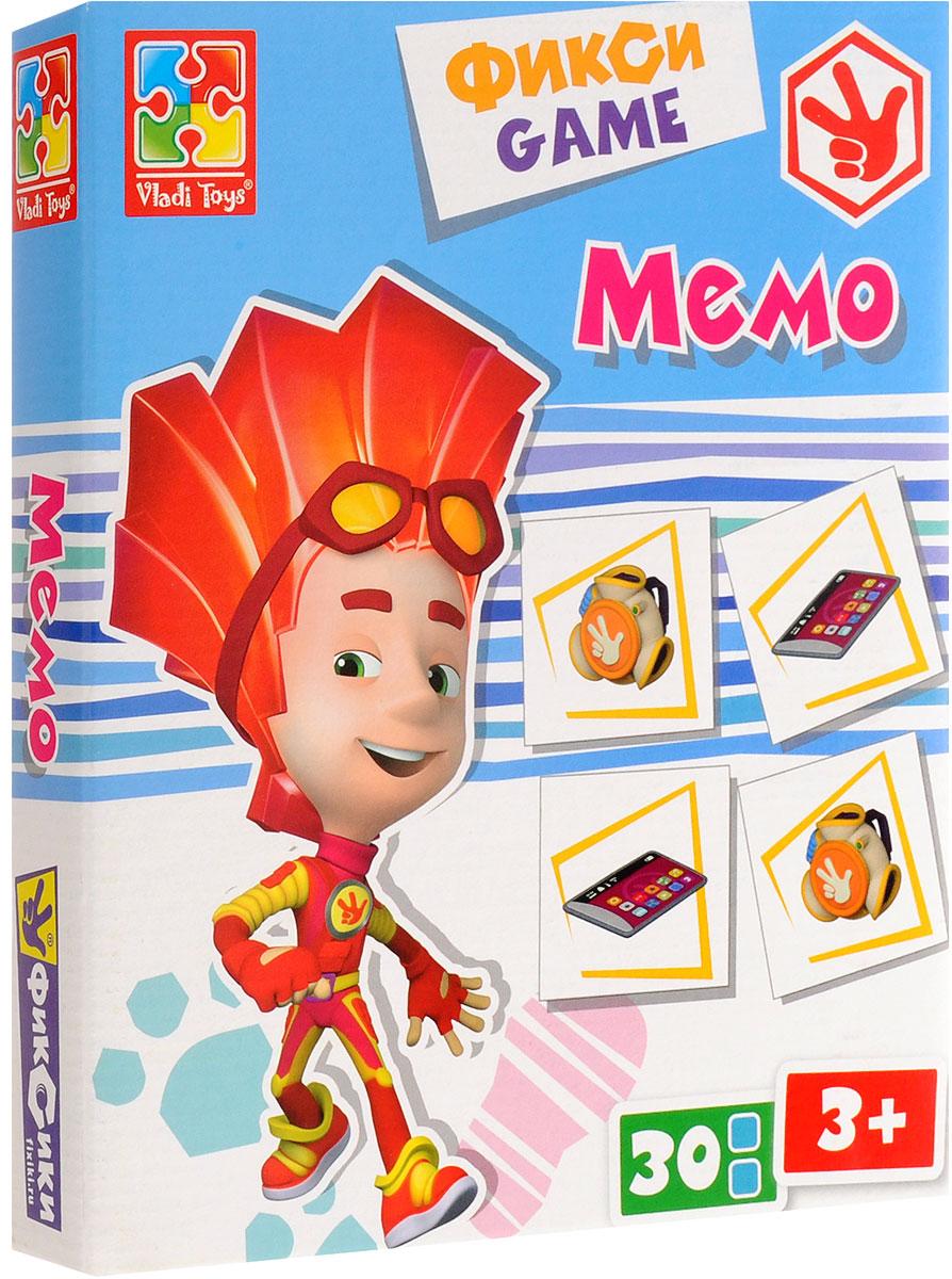 Vladi Toys Обучающая игра Фиксики МемоVT2107-02Обучающая игра Vladi Toys Фиксики. Мемо позволит играть вдвоем, втроем, вчетвером. Выложите квадратные фишки рисунками вниз и перемешайте. Определите очередность ходов или разыграйте считалочкой. Каждый игрок по очереди переворачивает по две карточки. Если картинки на обеих совпали - игрок берет обе карточки себе и делает еще один ход. В случае, когда картинки на карточках не совпадают, карточки остаются на месте. Задача каждого из игроков - запомнить, где какие карточки лежат, чтобы в свой ход определить парные. Выигрывает тот игрок, который соберет наибольшее количество парочек. Мемо обязательно понравится малышам, ведь это игра с Фиксиками! Игра развивает память, внимание, умение ориентироваться в окружающем мире, словарный запас.
