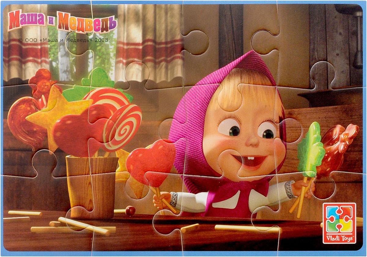 Vladi Toys Пазл для малышей Маша с конфетамиVT1103-05Пазл для малышей Vladi Toys Маша с конфетами - наилучшее решение для развития вашего малыша. Собирая картинку из 12 элементов с изображением всем известной Маши, малыш учится соотносить отдельные элементы в целое изображение, подбирать фрагменты по цвету и форме. Элементы пазла изготовлены из вспененного полимера с картонным покрытием, благодаря чему ребенку будет удобно собирать картинку. Мягкий пазл поможет развить у ребенка тактильные ощущения, мелкую моторику рук, пространственное воображение, а также внимательность, настойчивость и целеустремленность.