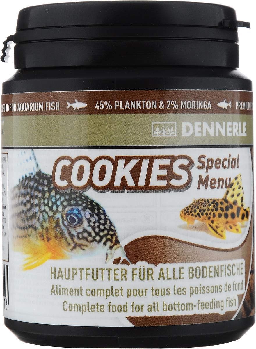 Корм Dennerle Cookies Special Menu для донных аквариумных рыб, 84 гDEN7511Корм Dennerle Cookies Special Menu выполнен в форме быстро тонущих чипсов и предназначен для донных рыб, таких как панцирные сомы и многие другие сомовые, вьюновые и щуки. Корм состоит только из водных животных и высококачественных растительных ингредиентов, таких как листья дерева моринга и масло из виноградных косточек. Состав: арктический криль 31%, пшеничный протеин, каракатица, жир морских животных с омега-3 ПНЖК, речной бокоплав 4%, водяная блоха 4%, кузнечик, личинка мухи, известковые красные водоросли, дрожжевой экстракт, экстракт зеленого губчатого моллюска, артемия 2%, науплия артемии 2%, моринга масличная 2%, инулин цикория, шпинат, красная личинка комара, водоросли наннохлоропсис 1%, травяной экстракт, капуста белокочанная, спирулина платенсис, мелисса, чеснок, трава мокрицы, водоросли хлорелла 0,3%, фенхель, анис, цветочная пыльца, порошок виноградных косточек, бета-глюканы. Добавки на 1 кг: витамины, провитамины, химически определенные вещества с аналогичным...