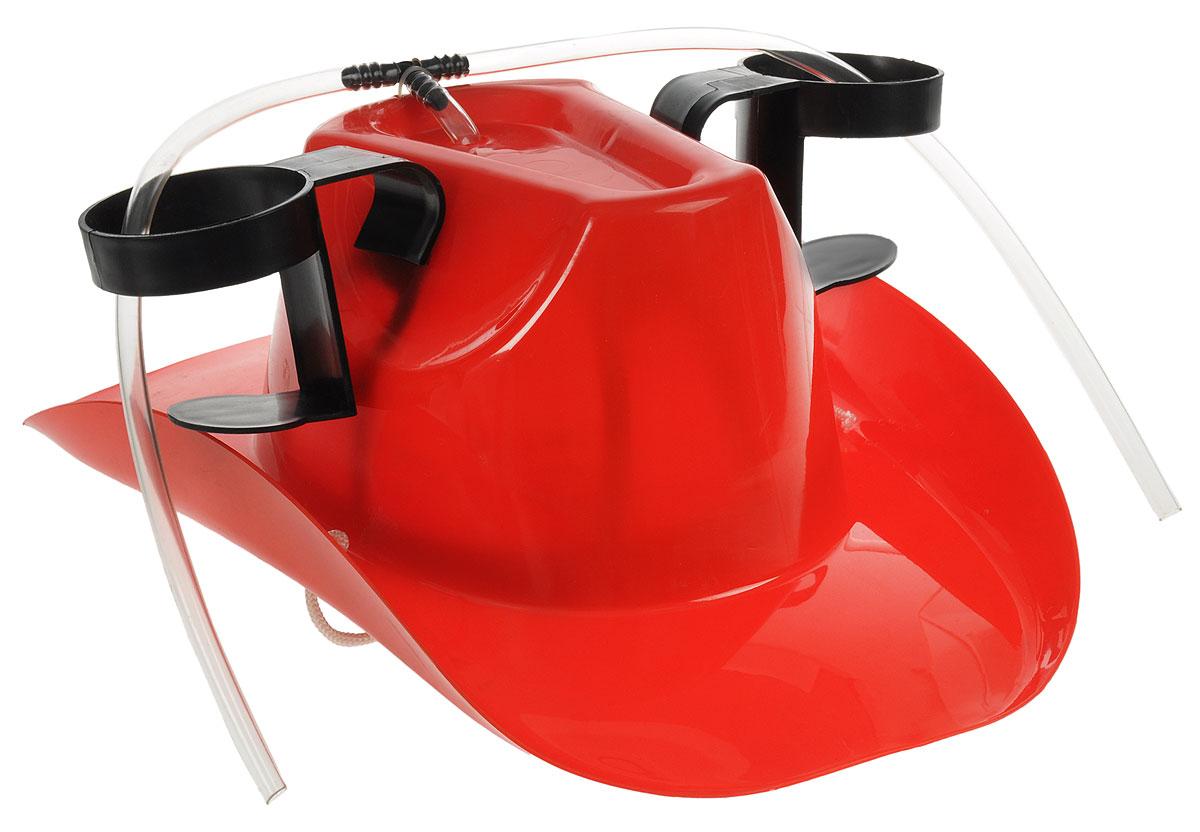 Каска с подставками под банки Эврика Пивная шляпа95044Красивое изделие Эврика Пивная шляпа, выполненное из прочного пластика, подойдет как мужественным ковбоям, так и их лихим подружкам. Шляпа прикроет голову от летнего зноя, утолит жажду напитками, установленными в специальных держателях, освободит руки для более важных дел. Она станет отличным подарком болельщикам, любителям дискотек и пикников. Размер изделия (без учета держателей): 38,5 х 27,5 х 15 см. Внутренний размер: 22 х 17 см.