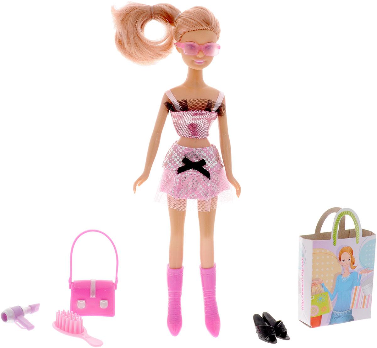 Defa Кукла Lucy Модница цвет наряда серебряный розовый
