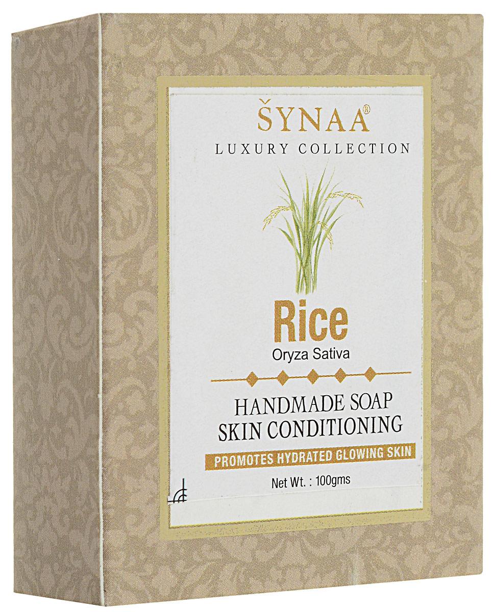 Synaa мыло ручной работы Рис, 100 г841028005581Мыло ручной работы с лечебно-профилактическими свойствами, обогащенное экстрактом Риса, витамином Е и кокосовым маслом. Нежно очищает кожу, увлажняет, препятствует потере влаги, защищает от внешних факторов. Делает кожу гладкой и матовой