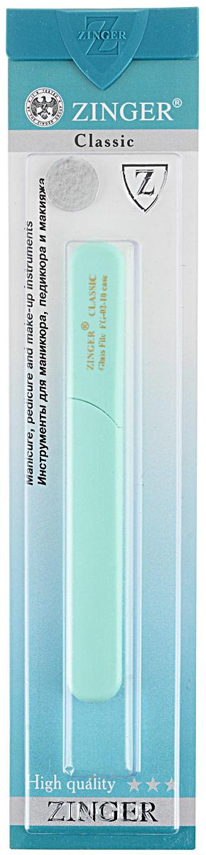 Zinger Пилка стеклянная двухсторонняя zo-FG-02-10-Case, цвет: ментоловый