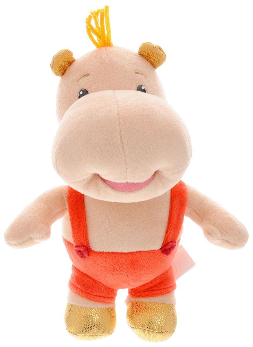 Мульти-Пульти Мягкая озвученная игрушка ТимаV39270/20Мягкая игрушка Мульти-Пульти Тима сама по себе ассоциируется с радостью и весельем, и для детей такой подарок станет поистине незабываемым. Это симпатичный бегемот бежевого цвета, одетый в красные шорты. Тима - настоящий маленький модник, он носит золотистые башмачки. Ушки у него также выкрашены в золотистый цвет - в тон башмачкам. Нажав ему на животик, он произносит разные фразы из мультфильма Тима и Том. Мягкие игрушки радуют детей с самого рождения. Ведь уже в первые месяцы жизни ребенок проявляет интерес к плюшевым зверятам и необычным персонажам. Они помогают малышу познавать окружающий мир через тактильные ощущения, знакомят его с животным миром нашей планеты, формируют цветовосприятие и способствуют концентрации внимания. Игрушка работает от незаменяемых батареек.