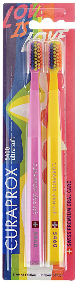 CS 5460 Duo Rainbow Edition Набор зубных щеток ultrasoft, d 0,10 мм (2 шт.) цвет: розовый, желтыйCS5460_розовый, желтый