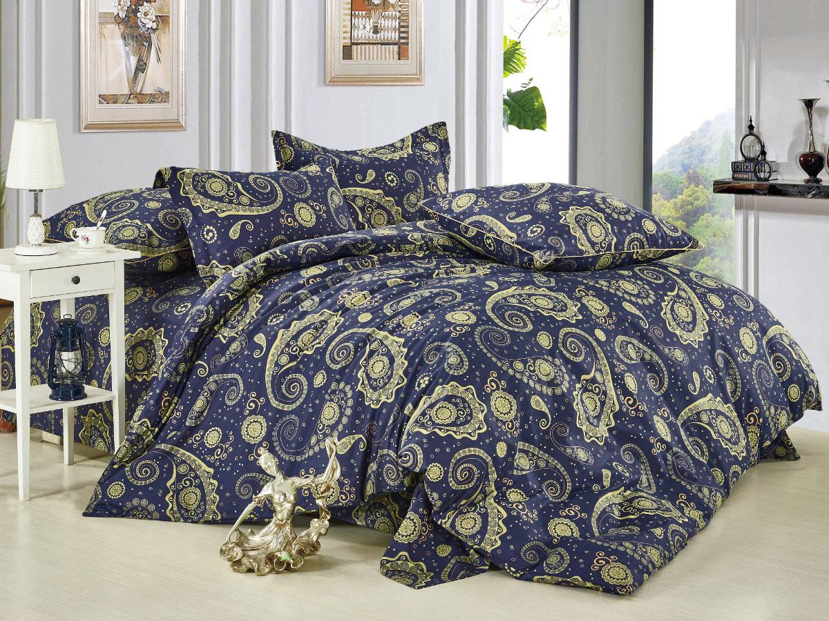 Комплект белья Cleo Пейсли Марокко, 2-спальный, наволочки 70x7020/008-BLКомплект постельного белья Cleo выполнен из высококачественной бязи люкс (100% хлопок), которая идеально подходит для любого времени года Постельное белье из бязи имеет ряд уникальных свойств: экологичность, гипоаллергенность, сохраняет внешний вид на долгие годы, не садится, легко гладится, не накапливает статического электричества, обладает исключительной терморегуляцией, загрязнения прекрасно отстирываются любыми средствами. Благодаря особому способу переплетения нитей в полотне, обеспечивается особая плотность ткани, что делает ее устойчивой к износу. Высокая плотность - это залог прочности и долговечности, однако она не влияет на удовольствие от прикосновения. Благодаря пигментному способу нанесения печати даже после многократных стирок в деликатном режиме постельное белье сохраняет свой первоначальный вид. Такое постельное белье окутает вас своей нежностью и подарит спокойный комфортный сон, а яркие оригинальные дизайны стильно дополнят...