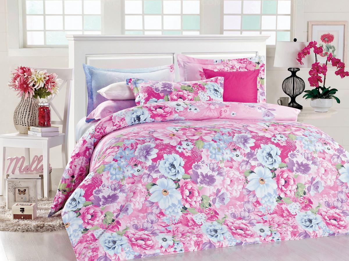 """Cleo (текстиль) Комплект белья Cleo """"Парад цветов"""", семейный, наволочки 50x70, 70x70, цвет: розовый. 41/154-SP"""
