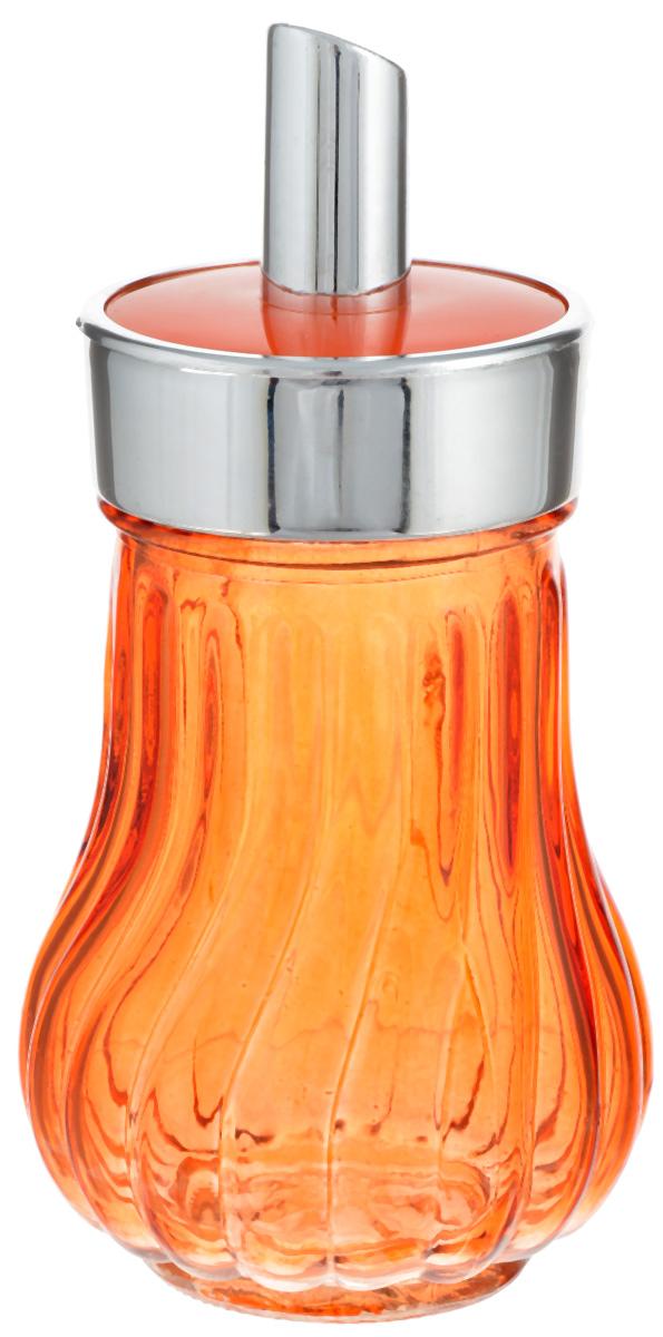 Банка для специй House & Holder, с дозатором, цвет: оранжевый, 200 млPS3137I_оранжевыйБанка для специй House & Holder выполнена из цветного прозрачного граненого стекла. Пластиковая крышка снабжена дозатором, благодаря которому вы сможете приправить блюда, просто перевернув банку. Изделие подходит как для жидких специй (оливковое масло, уксус), так и сухих. Крышка легко откручивается, поэтому заполнять банку очень просто. Такая баночка станет достойным дополнением к вашему кухонному инвентарю. Диаметр (по верхнему краю): 6 см. Высота банки (с учетом крышки): 14 см.