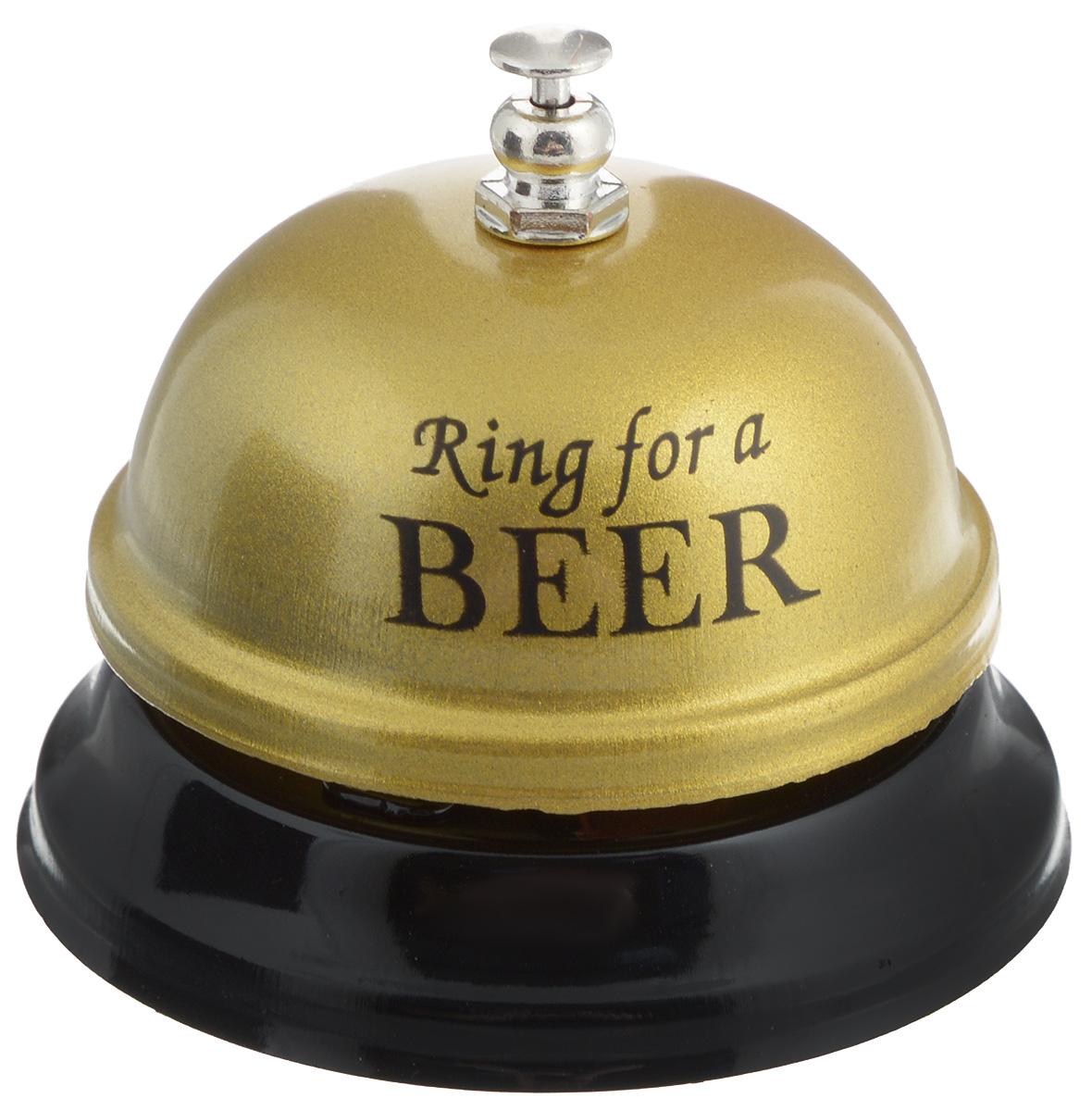Звонок настольный Эврика Ring For A Beer95090Механический настольный звонок Эврика Ring For A Beer изготовлен из металла. С его помощью вы можете оповещать ваших близких о своих желаниях. Этот звонок будет отличным подарком, который подарит улыбку и радость.