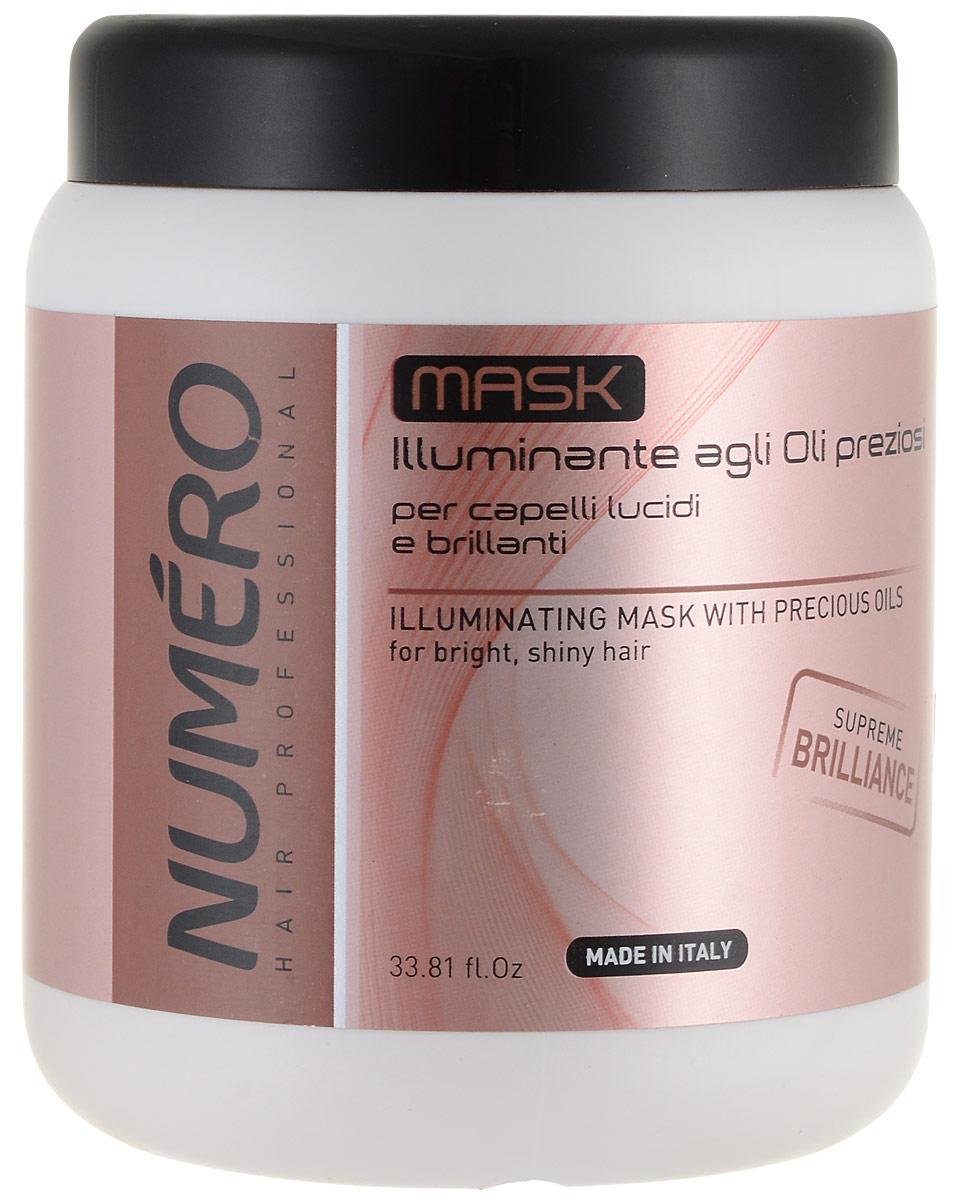 Brelil Маска для придания бриллиантового блеска с ценными сортами масел Numero Illuminating Mask With Precious Oils, 1000 млB080093_Illuminating Mask