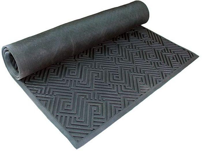 Коврик Sindbad, напольный, цвет: черный, 90 х 150 см. 20092009Коврик придверный 2009 изготовлен из резины высокого качества. Легко моется водой, а благодаря своей структуре препятствует скольжению. В любых погодных словиях будет защищать Ваш дом или офис от пыли и грязи.