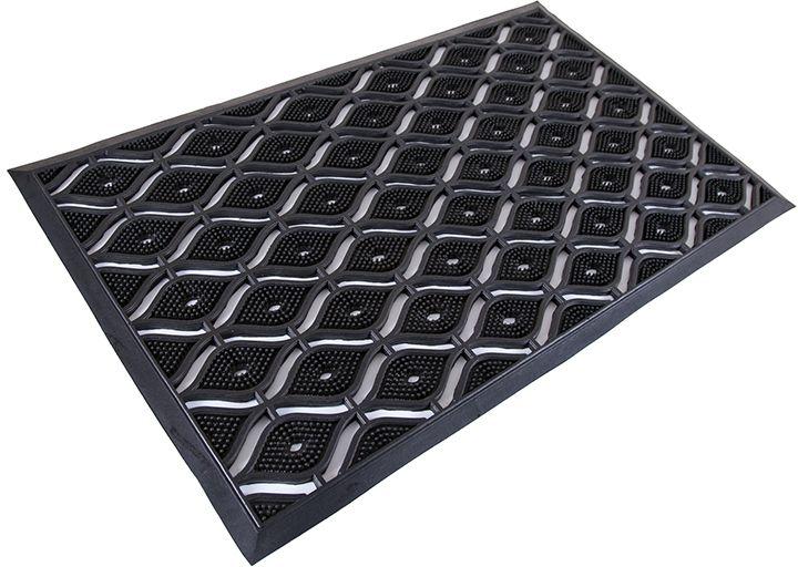 Коврик Sindbad, напольный, цвет: черный, 55 х 90 см. 20582058Коврик Sindbad изготовлен из прочной резины высокого качества. Коврик легко моется водой. Изделие не меняет цвет со временем, не гниет, что гарантирует долгий срок службы. Эффективно очищает обувь от сильных загрязнений. Коврик обладает противоскользящим эффектом. Изделие прекрасно защищает от песка, грязи и пыли.