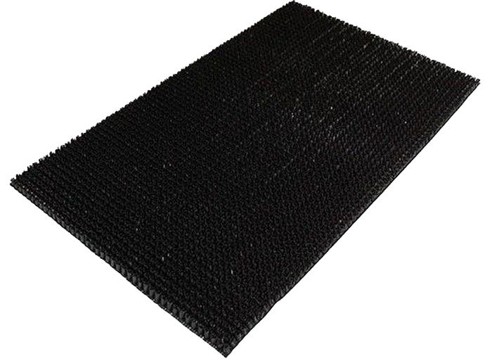 Коврик Sindbad, напольный, цвет: черный, 45 х 75 см. 701701Коврик Sindbad изготовлен из прочной резины высокого качества. Коврик легко моется водой. Изделие не меняет цвет со временем, не гниет, что гарантирует долгий срок службы. Эффективно очищает обувь от сильных загрязнений. Коврик обладает противоскользящим эффектом. Изделие прекрасно защищает от песка, грязи и пыли.