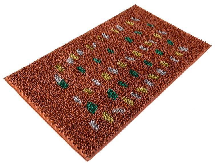 Коврик Sindbad, напольный, цвет: оранжевый, 45 х 75 см. FRD 710TFRD 710TКоврик придверный FRD 710 изготовлен из резины высокого качества. Легко моется водой, а благодаря своей структуре препятствует скольжению. В любых погодных словиях будет защищать Ваш дом или офис от пыли и грязи.