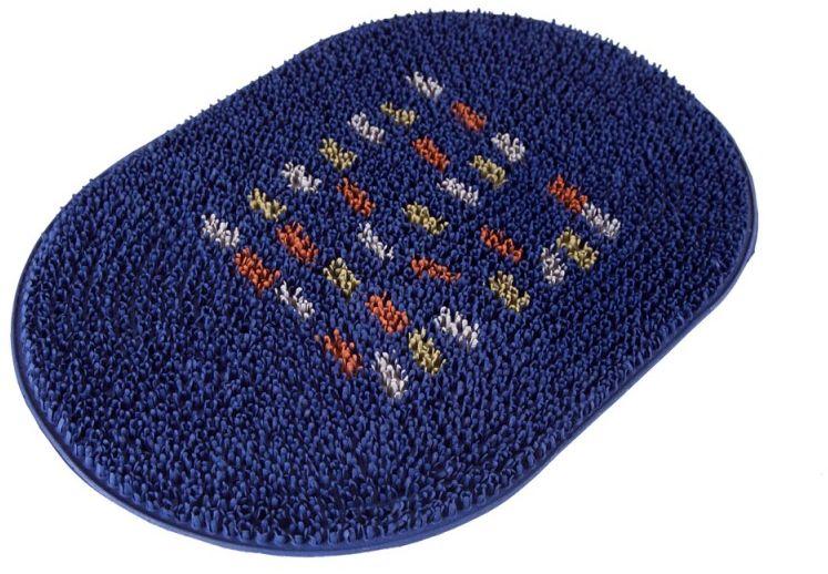 Коврик Sindbad, напольный, цвет: синий, 40 х 60 см. FRG 05BFRG 05BКоврик Sindbad изготовлен из прочной резины высокого качества. Коврик легко моется водой. Изделие не меняет цвет со временем, не гниет, что гарантирует долгий срок службы. Эффективно очищает обувь от сильных загрязнений. Коврик обладает противоскользящим эффектом. Изделие прекрасно защищает от песка, грязи и пыли.
