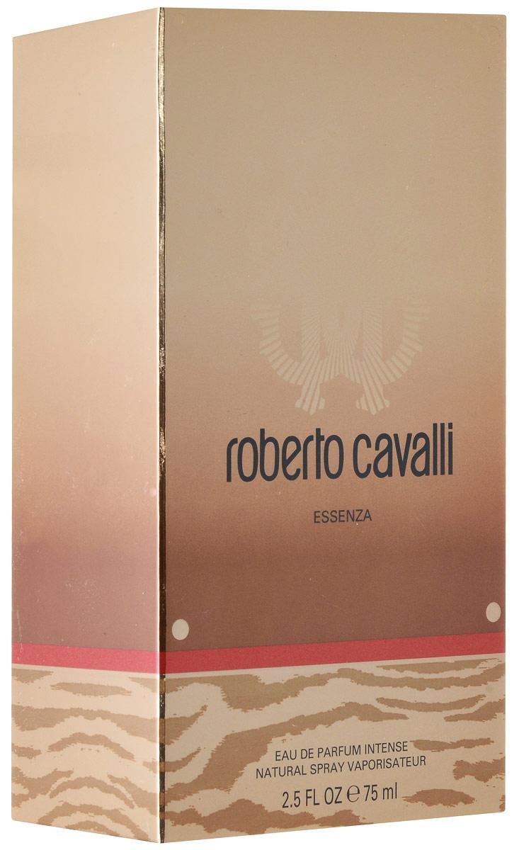 Roberto Cavalli Essenza Парфюмерная вода женская 75 мл75111111000Roberto Cavalli Essenza это интенсивный, сложный, роскошный женский аромат с ярким характером. Он открывается провокационным блеском горького миндаля, предшествующего чувственному сердцу из абсолюта цветов апельсина. Аромат завершается базой из абсолюта