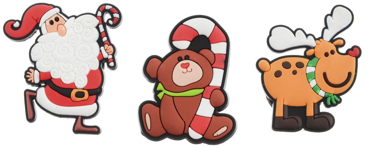 Магниты B&H Мишка, Дед Мороз, олень, 3 штBH1001_мишка, дед мороз, оленьМагниты B&H Мишка, Дед Мороз, олень прекрасно дополнят интерьер помещения в преддверии Нового года. Магниты выполнены из резины в виде забавных фигурок Деда Мороза, мишки и оленя. Создайте в своем доме атмосферу веселья и радости, украшая его к Новому году. Откройте для себя удивительный мир сказок и грез. Почувствуйте волшебные минуты ожидания праздника, создайте новогоднее настроение вашим родным и близким. Средний размер магнитов: 4 х 5 см.