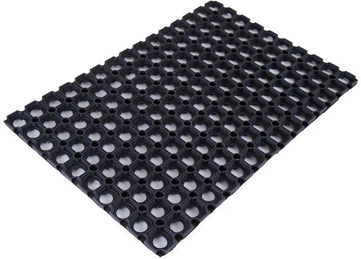Коврик Sindbad, напольный, цвет: черный, 40 х 60 х 1,2 см. RHRHКоврик придверный ячеистый RH изготовлен из резины выкого качества, поэтому возможно его использовать вне помещений при температуре ниже 35 градусов. Благодаря своей универсальности может применяться как в быту, так и в других различных учреждениях. Коврик имеет сквозные отверстия - ячейки особой формы, что позволяет надежно собирать снег и грязь с обуви и защищать от скольжения.