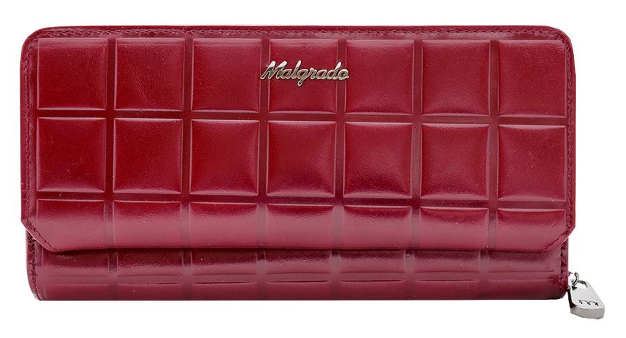 Клатч-кошелек женский Malgrado, цвет: красный. 73001-14502D