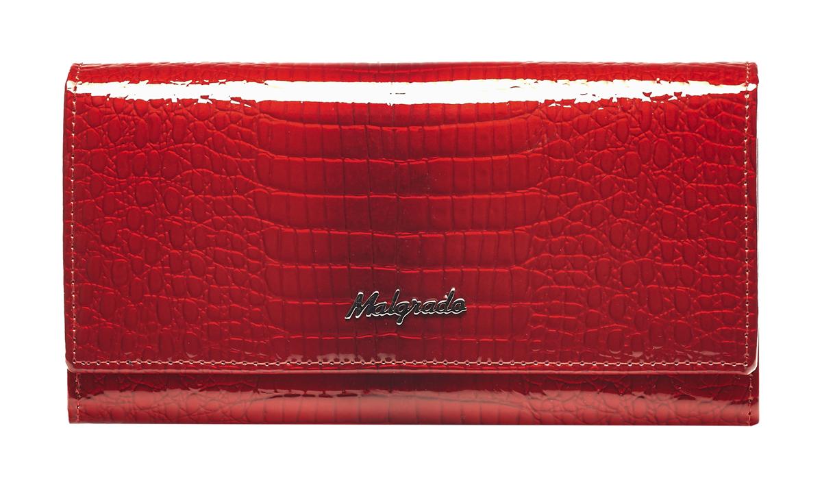 Кошелек женский Malgrado, цвет: красный. 64007-4464007-44