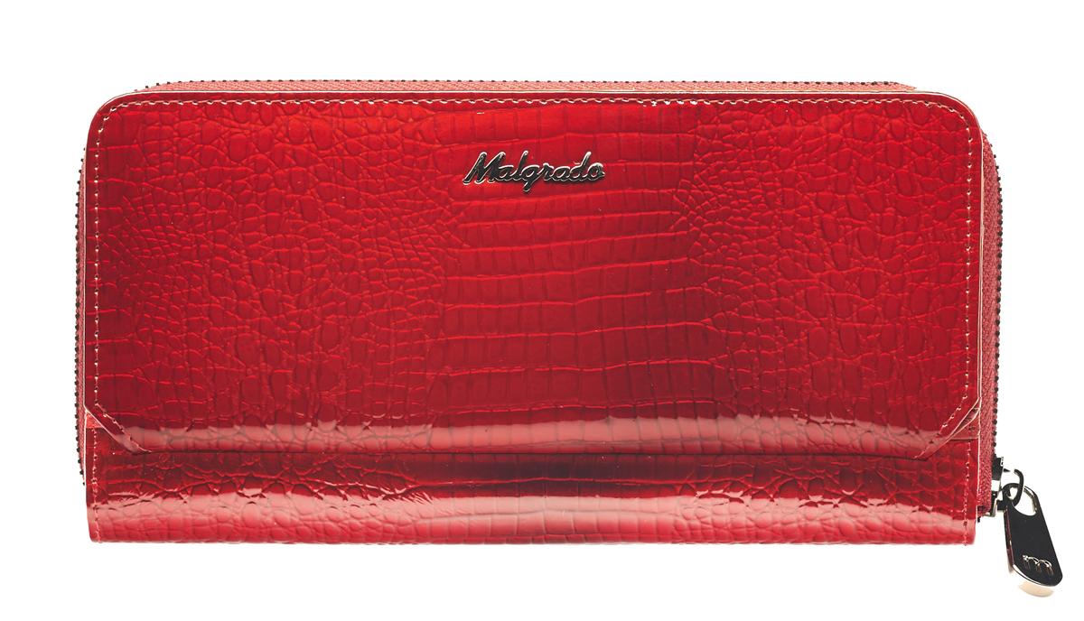 Клатч женский Malgrado, цвет: красный. 73001-4473001-44
