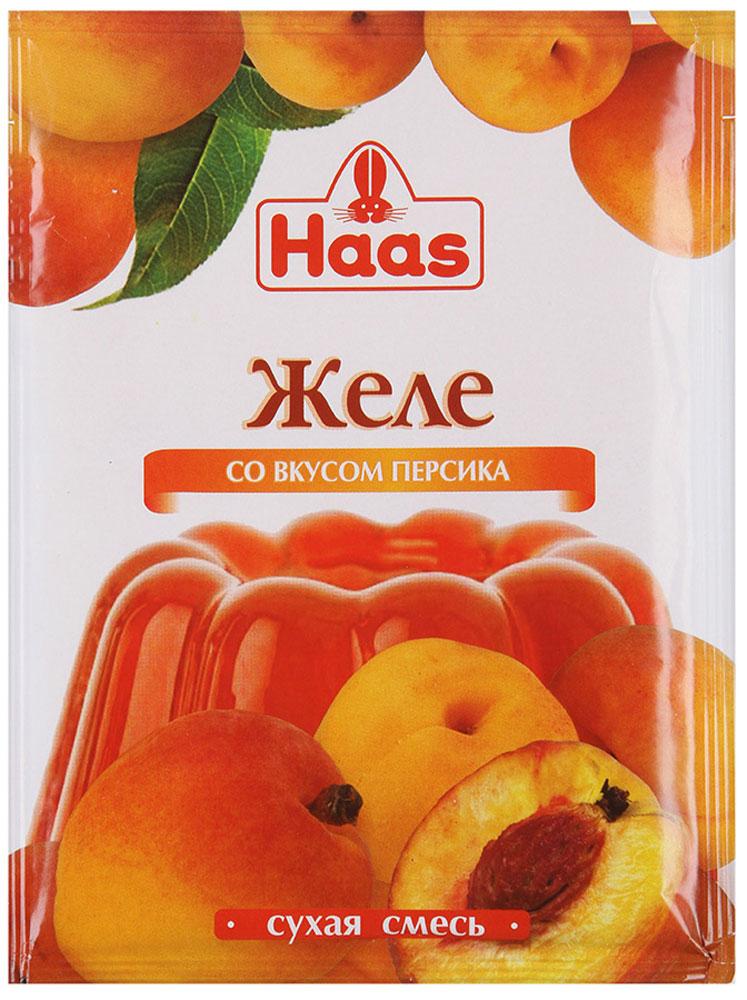 Haas желе десертное Персик, 50 г