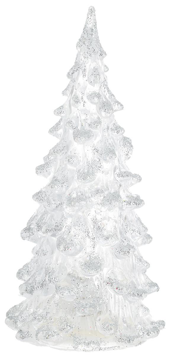 Фигурка декоративная B&H Елочка, светящаяся, цвет: серебристый, прозрачный, высота 12 смBH1081_серебряныйФигурка декоративная B&H изготовлена из акрила в виде нарядной новогодней елочки и декорирована цветными сверкающими блестками. Изделие снабжено светодиодом, который меняет цвет и горит в разных режимах. Тумблер включения расположен на дне фигурки. Создайте в своем доме атмосферу веселья и радости, украшая его к Новому году. Откройте для себя удивительный мир сказок и грез. Почувствуйте волшебные минуты ожидания праздника, создайте новогоднее настроение вашим родным и близким. Изделие работает от 3 батареек типа AG10 (входят в комплект).
