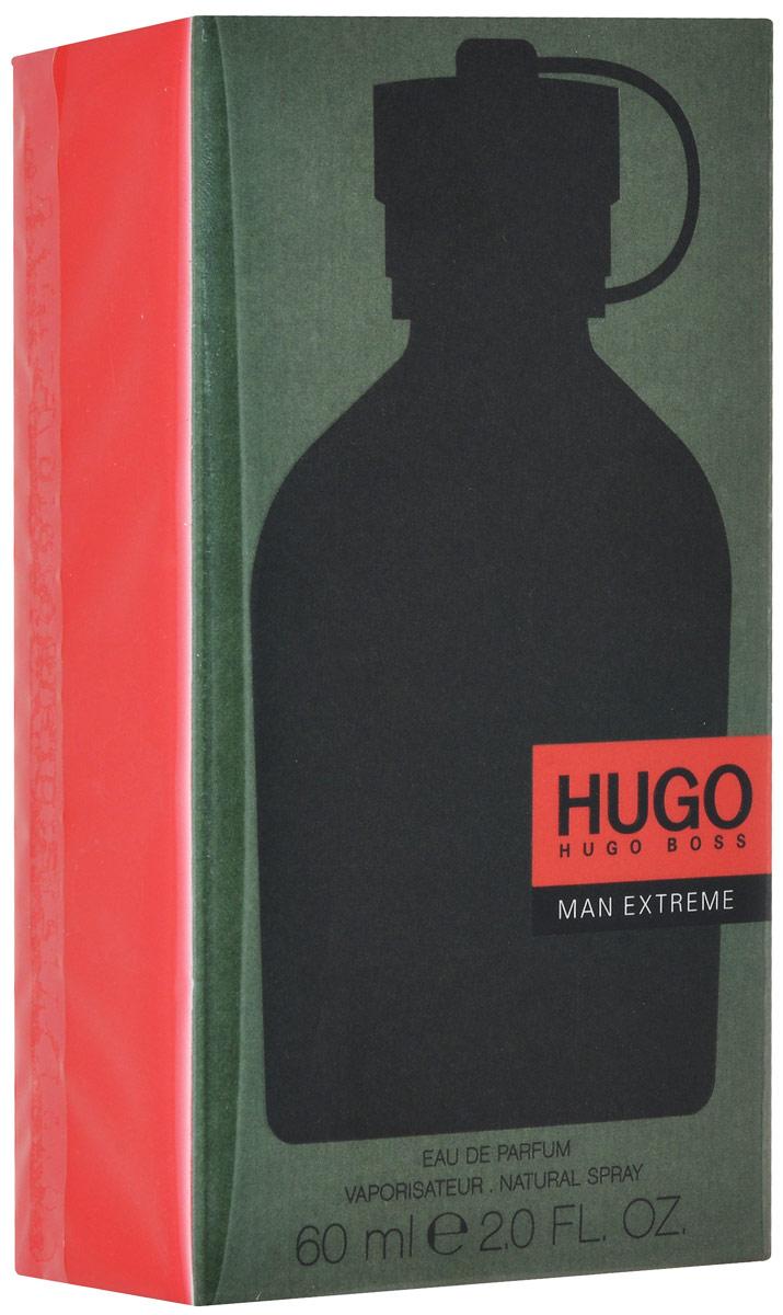 Hugo Boss Man Extreme Парфюмерная вода 60 мл0737052987200Hugo Extreme – это насыщенная мужская композиция от Hugo Boss, вышедшая в 2016. Фужерно-древесный парфюм – это современная интерпретация классического аромата 1995 года Hugo Man. Яркий и бодрящий, тонизирующий и притягательный букет великолепно освежает, наполняет энергией, завораживает роскошной игрой бликов. В элегантной и выразительной композиции гармонично переплетаются аккорды драгоценных специй и пряных трав с умеренными древесно-бальзамическими мотивами и сочными фруктовыми акцентами. Начальные ноты зеленого яблока прекрасно гармонируют с прохладной свежестью герани и лаванды. Пикантные вкрапления шалфея создают пьянящую интригу, чтобы потом медленно раствориться в смолистых объятьях пихты и кедра. Композиция: зеленое яблоко, герань, лаванда, шалфей, кедр, смола пихты.