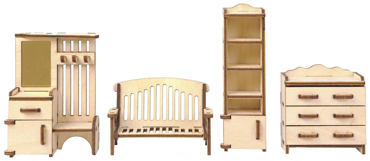 Большой Слон Мебель для кукол ПрихожаяМ-006Мебель для кукол Большой Слон Прихожая просто необходима в домике у любимой куколки. Набор, выполненный из натурального дерева, надолго займет внимание вашей малышки. Набор включает в себя: комод, стеллаж, диван и вешалку со шкафчиком и безопасным зеркалом. Вся мебель из набора выполнена из натурального дерева и требует сборки. В коробке вы найдете резные элементы для сборки мебели и схематичную инструкцию. При сборке мебели развивается мелкая моторика рук, а при игре - воображение и фантазия ребенка. Такой набор подойдет небольшим куколкам вашей малышки. Порадуйте свою принцессу таким замечательным подарком!