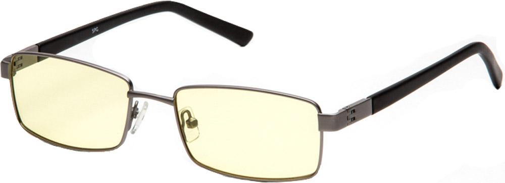 SP Glasses AF011 Comfort компьютерные очки цвет темно-серыйAF011_BSP Glasses AF011 Comfort - компьютерные очки с желтыми линзами, которые предназначены для защиты глаз от вредного излучения мониторов, ноутбуков, игровых приставок, электронных книг, телевизоров. Их линзы изготовлены из качественного прочного пластика и оснащены специальными светофильтрами, позволяющими не перенапрягать глаза при длительной работе за компьютером и с другими подобными устройствами с дисплеями и мониторами. Очки эффективно уменьшают слезоточивость и резь в глазах, снижают утомляемость. Также их можно использовать для защиты глаз от света люминесцентных ламп, при работе с мелкими деталями и движущимися элементами. Наносники: регулируемые Геометрия: прямоугольная