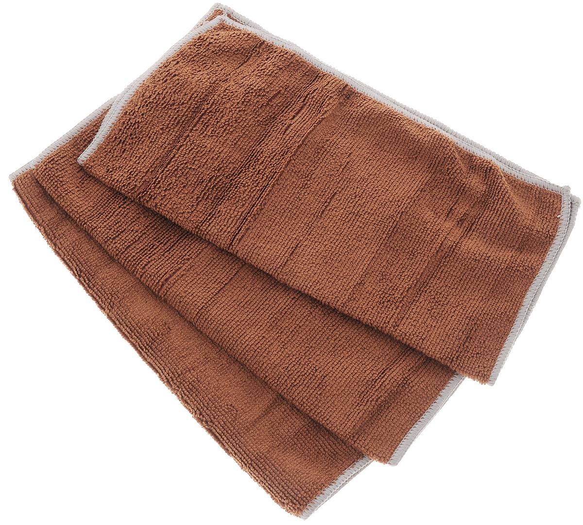 Набор универсальных салфеток Фэйт Вэриес, цвет: коричневый, 30 х 30 см, 3 шт1304057_коричневыйНабор Фэйт Вэриес состоит из 3 универсальных салфеток, выполненных из микрофибры. Такие салфетки не оставляют ворсинок, подходят для многократного использования, отлично впитывают влагу. Комплектация: 3 шт. Размер салфетки: 30 х 30 см.
