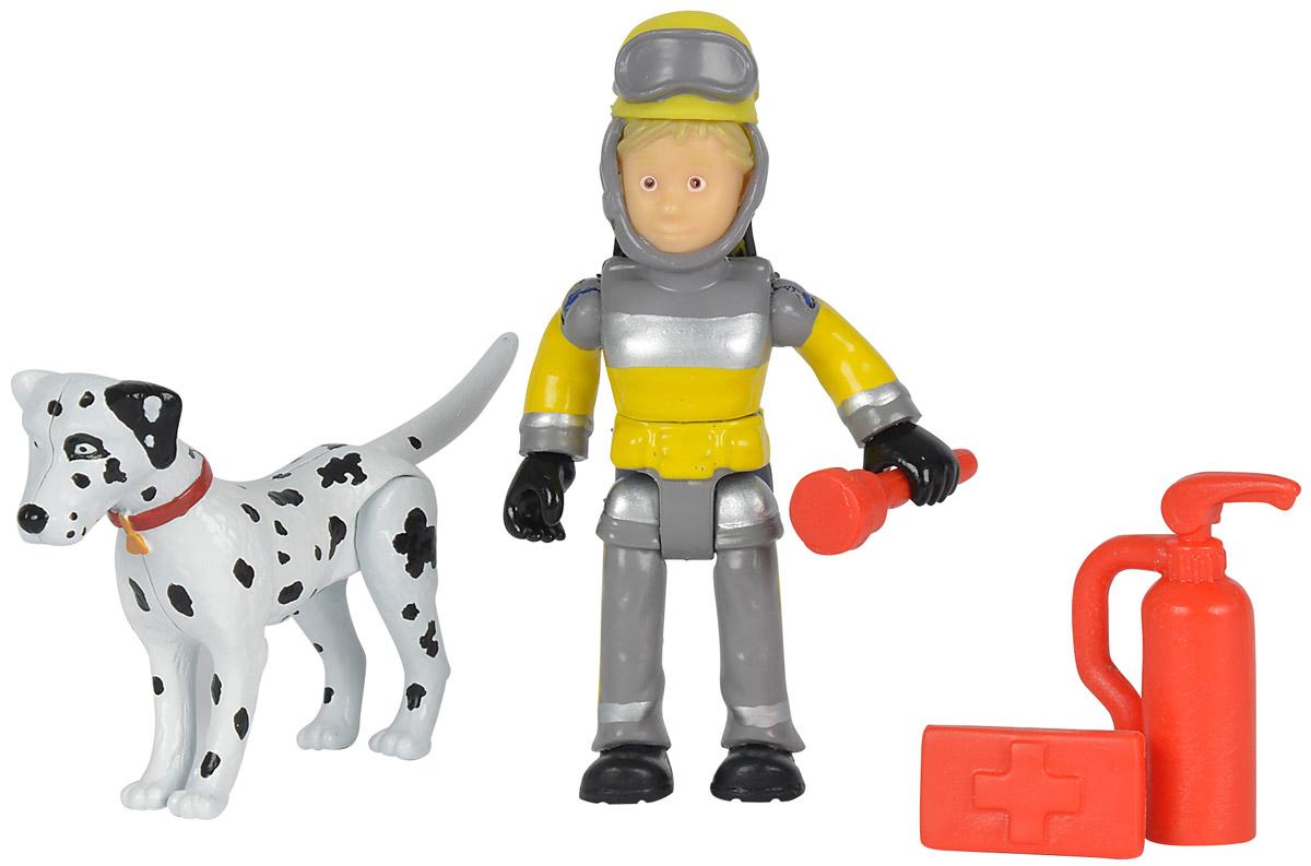 Simba Набор фигурок Penny & Radar9259746_далматинецНабор фигурок Simba Penny & Radar состоит из фигурки Пенни, его питомца и необходимого на пожаре снаряжения. Конечности фигурки пожарного подвижны и позволяют придавать игрушке различные позы, голова и торс могут поворачиваться, шлем можно снять с головы фигурки, а в руки пожарного можно вложить его инструменты. Набор выполнен из качественного и безопасного пластика.