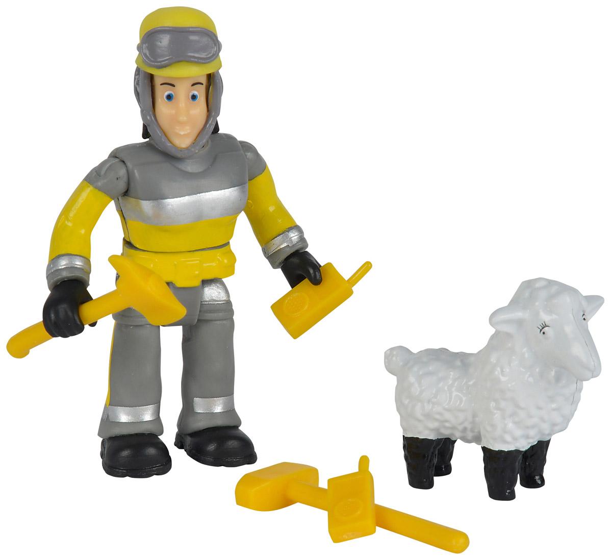 Simba Набор фигурок Elvis & Wolly9259746_овечкаНабор фигурок Simba Elvis & Wolly состоит из фигурки пожарного, его питомца и необходимого на пожаре снаряжения. Конечности фигурки пожарного подвижны и позволяют придавать игрушке различные позы, голова и торс могут поворачиваться, шлем можно снять с головы фигурки, а в руки пожарного можно вложить его инструменты. Набор выполнен из качественного и безопасного пластика.