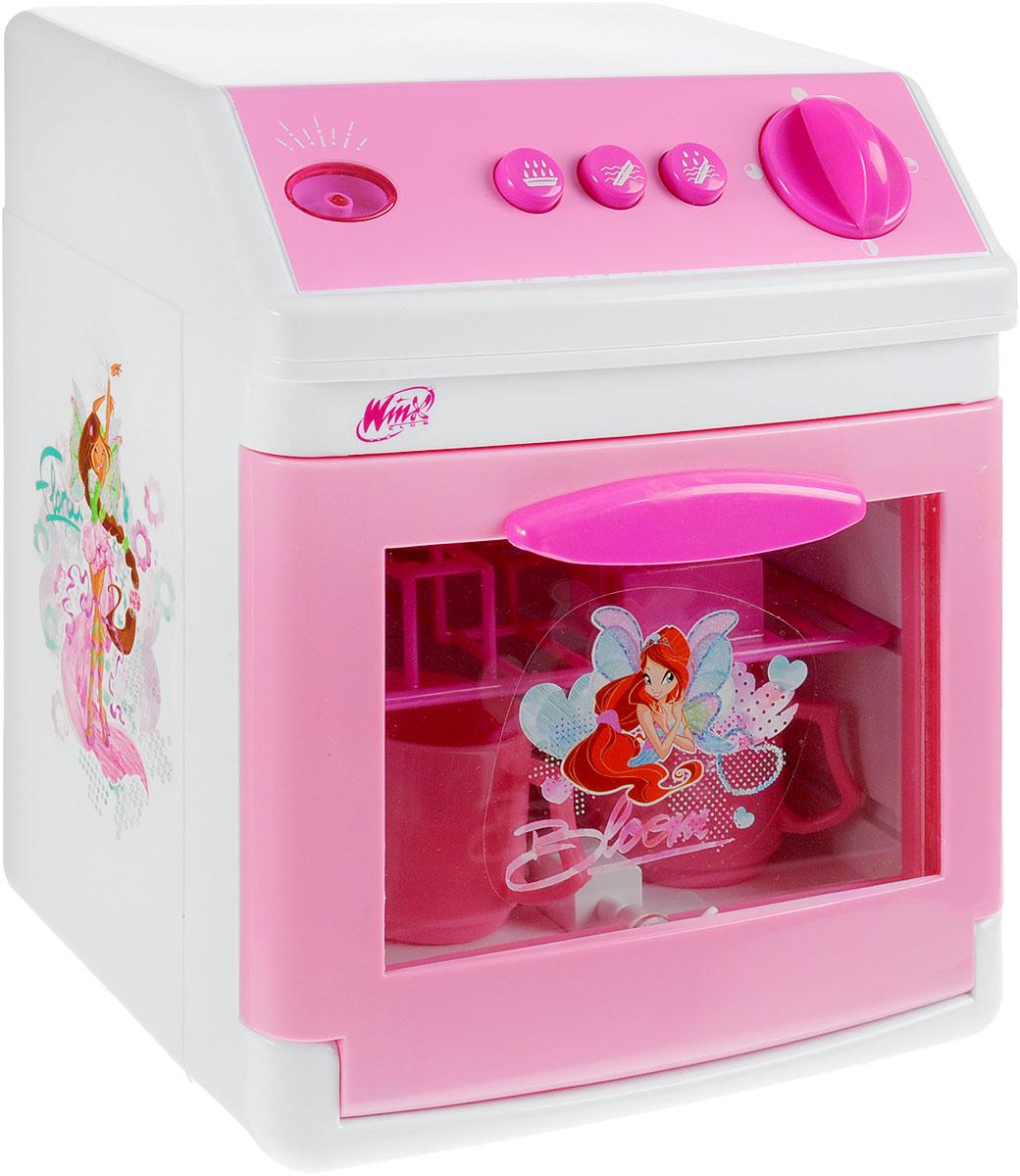 Играем вместе Игрушечная посудомоечная машина Winx Club1602-RЗамечательная игрушечная посудомоечная машина Играем вместе Winx Club станет отличным подарком для вашей малышки. Если у нее не хватает времени вымыть игрушечную посуду, то она сможет воспользоваться этой чудесной техникой. Посудомоечная машина стилизована под всеми любимый мультфильм о феях Винкс, имеет звуковые и световые эффекты. А также в ней может использоваться вода. Пусть ваша девочка почувствует себя настоящей хозяйкой с такой отличной игрушкой. В набор также входит пластиковая посуда. Рекомендуется докупить 3 батарейки напряжением 1,5V типа АА (товар комплектуется демонстрационными).