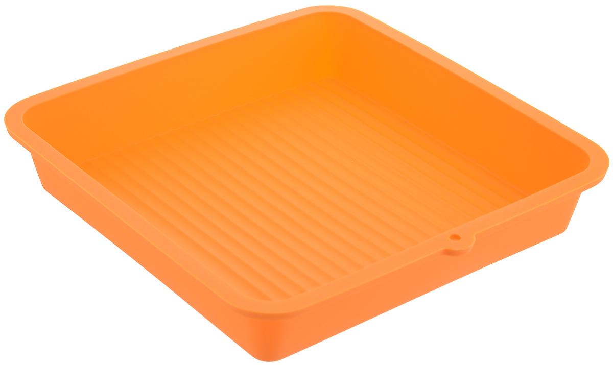 Форма для выпечки LaSella, силиконовая, цвет: оранжевый, 23 х 23 х 4,5 смKL40B005_оранжевыйФорма для выпечки LaSella выполнена из высококачественного 100% пищевого силикона. Идеально подходит для приготовления выпечки, десертов и холодных закусок. Форма выдерживает температуру от -40 до +240°C, обладает естественными антипригарными свойствами. Не выделяет вредных веществ при высоких температурах. Подходит для использования в духовке и микроволновой печи. Размер формы: 23 х 23 х 4,5 см.