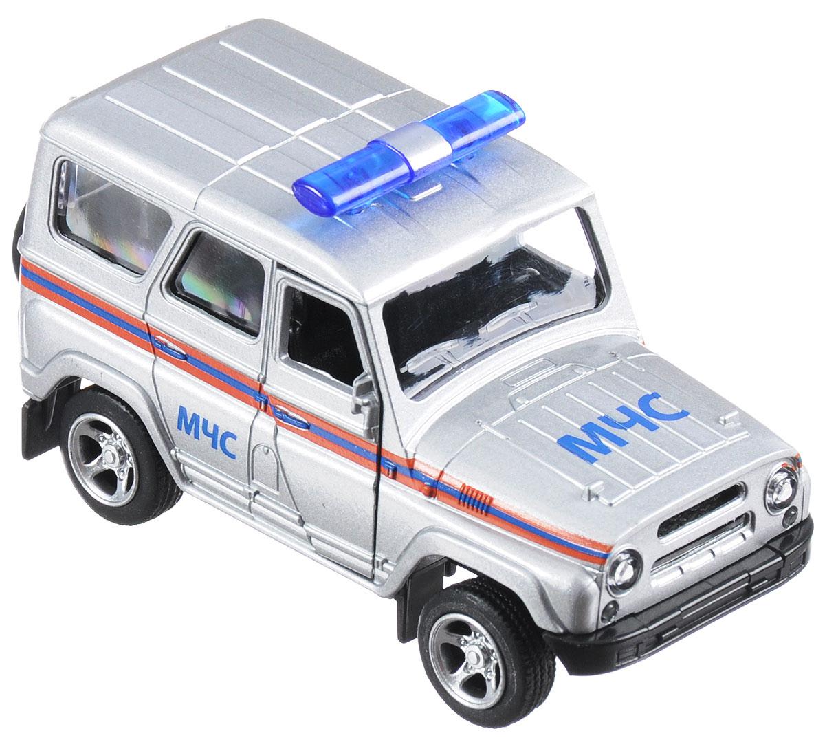 ТехноПарк Машинка инерционная UAZ Hunter МЧСX600-H09019-RМашинка инерционная ТехноПарк UAZ Hunter. МЧС будет отличным подарком для каждого ребенка! Игрушка выполнена в реалистичном дизайне и достаточно детализирована. Такая проработка каждой детали позволяет говорить о ней, как о ценной модели, которая может занять достойное место на полках коллекционеров. Дверцы кабины открываются. Авто оснащено инерционным механизмом, а прорезиненные колеса обеспечивают надежное сцепление с любой поверхностью пола. Подарите вашему малышу возможность почувствовать себя настоящим водителем.