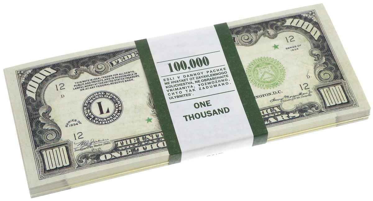Блокнот Эврика Пачка 1000 долларов, 90 листов95518Блокнот Эврика Пачка 1000 долларов - это яркий аксессуар для тех, кто ценит практичные и оригинальные вещи. Блокнот состоит из 90 разноцветных линованных листов. Такой оригинальный блокнот поможет вам записать важные мысли и заметки, а его внешний вид не позволит затеряться среди других вещей на вашем столе. Размер одного листа: 6 х 15,1 см.