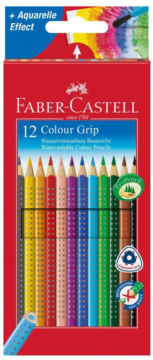 Faber-Castell Набор цветных карандашей Grip 12 шт112412В наборе Faber-Castell Grip 12 цветных карандашей, которые имеют высокое содержание качественных пигментов. Карандаши обладают яркими цветами, безопасны при использовании по назначению и легко затачиваются. Специальный гладкий грифель изготовлен на основе воска. Он имеет водоустойчивую структуру, которая не размазывается. Такой набор карандашей откроет юным художникам новые горизонты для творчества, поможет отлично развить мелкую моторику рук, цветовое восприятие, фантазию и воображение.