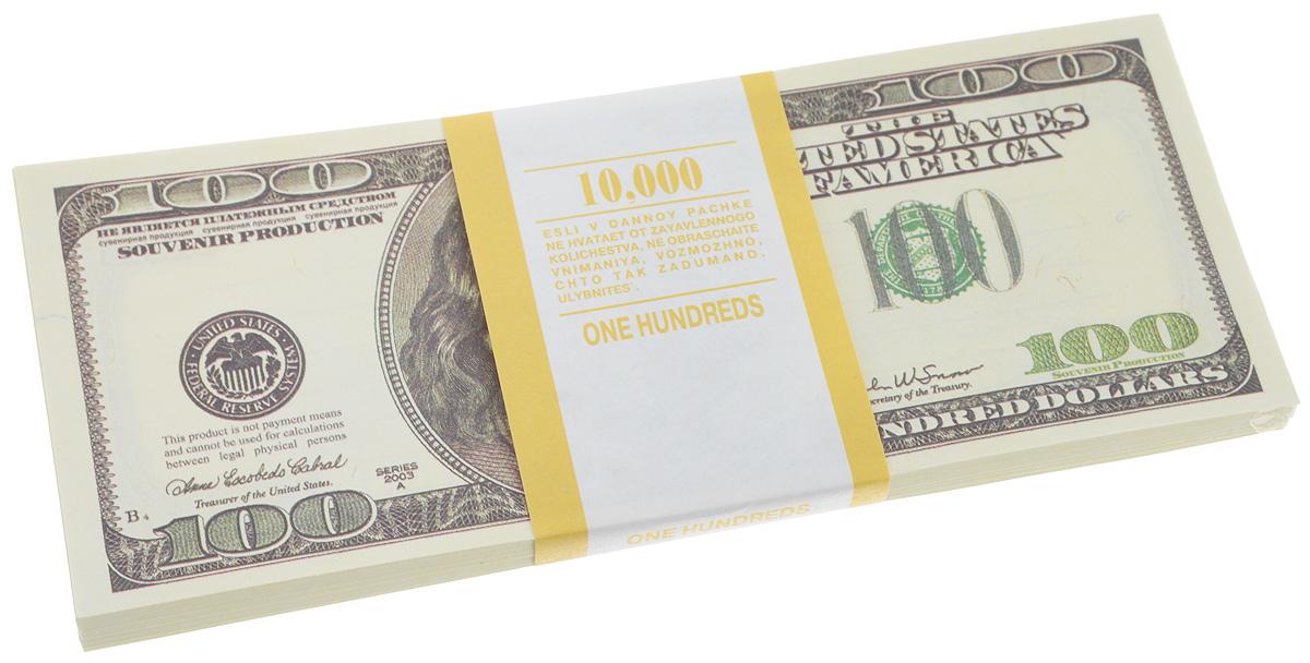 Блокнот Эврика Пачка 100 долларов, 90 листов95517Блокнот Эврика Пачка 100 долларов - это яркий аксессуар для тех, кто ценит практичные и оригинальные вещи. Блокнот состоит из 90 разноцветных линованных листов. Такой оригинальный блокнот поможет вам записать важные мысли и заметки, а его внешний вид не позволит затеряться среди других вещей на вашем столе. Размер одного листа: 6 х 15,1 см.